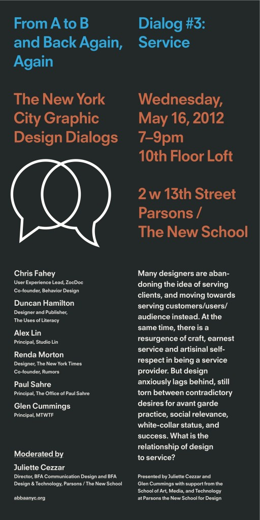 The New York City Graphic Design Dialog #3: Service