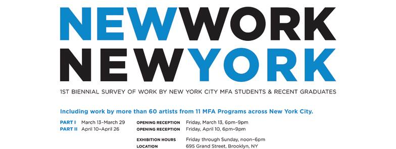 MFA students and alumni featured in New Work, New York