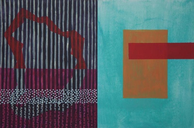 "MFA Student Fernando do Campo's Solo Exhibition: ""Figure behind a lake"""