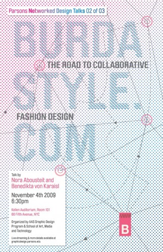 BurdaStyle event poster by Mirna Raduka (AAS Graphic Design student)