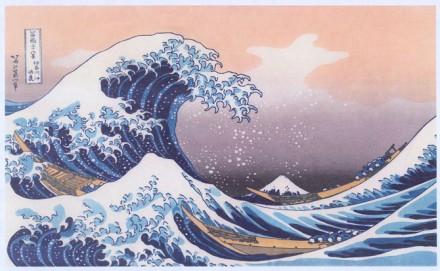 The Wave, Hokusai