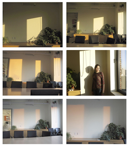 Conference room daylight study.