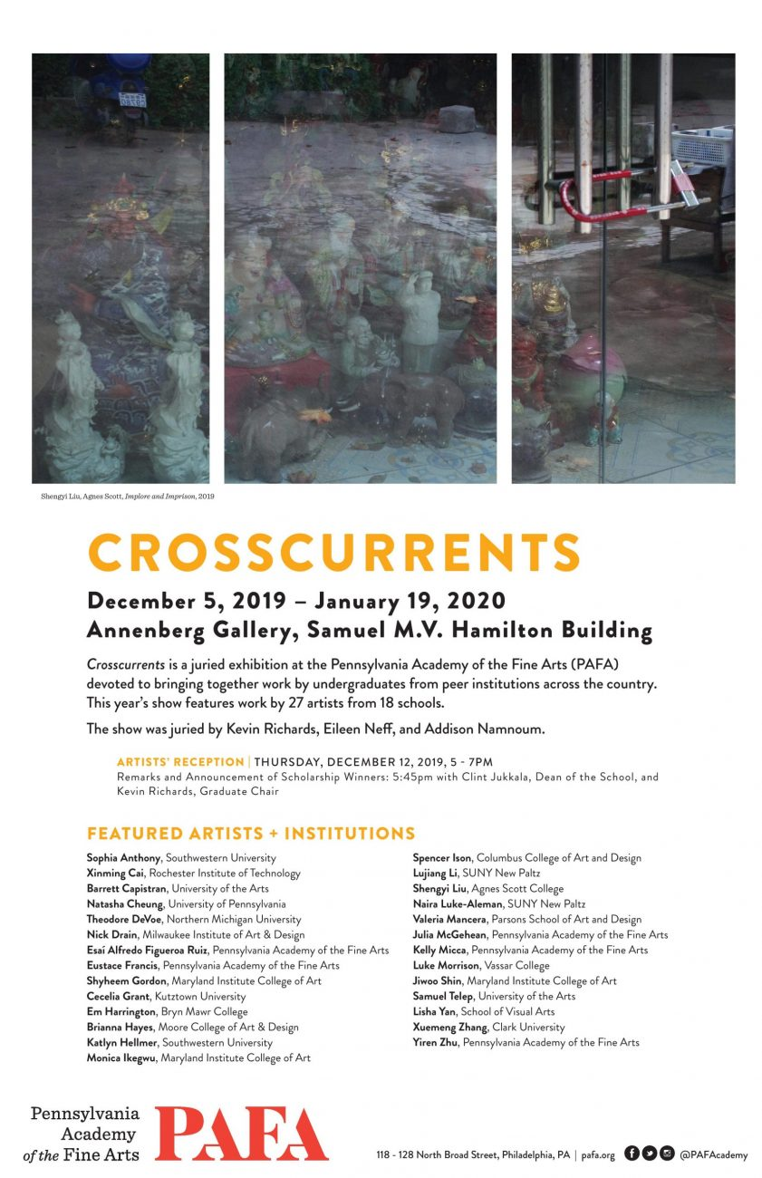 BFA Fine Arts Senior Valeria Mancera selected for The Crosscurrents show at PAFA