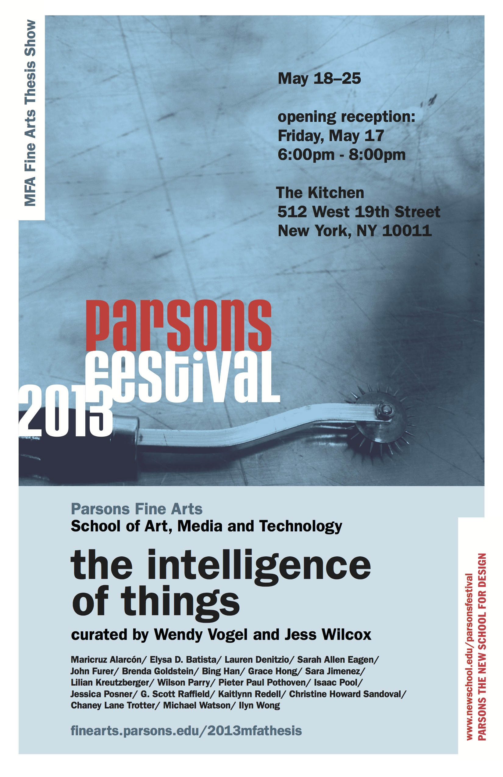 FINE ARTS OPENING RECEPTION:The Intelligence of Things | Art, Media ...