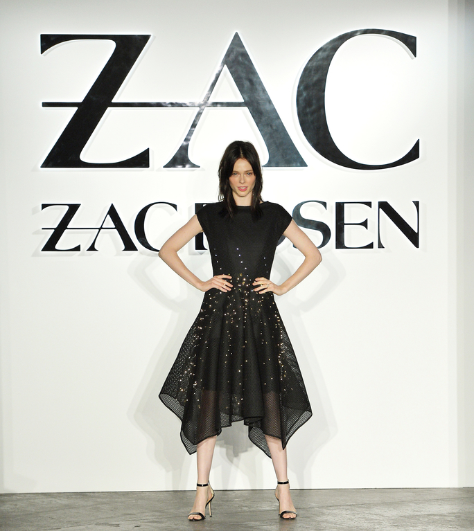 NEW YORK, NY - SEPTEMBER 08:  Model Coco Rocha wallks the runway in the Google Made With Code LED Dress at the ZAC Zac Posen SS16 NYFW show in partnership with Google Made With Code at Industria Studios on September 8, 2015 in New York City.  (Photo by Slaven Vlasic/Getty Images  for Google)